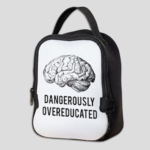 dangerously overeducated Neoprene Lunch Bag