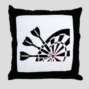 Darts dartboard Throw Pillow
