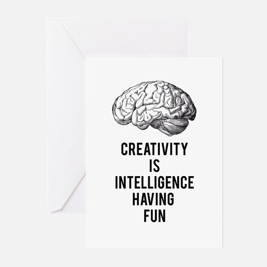 creativity is intelligence having fun Greeting Car