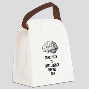 creativity is intelligence having fun Canvas Lunch