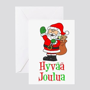 Finnish Christmas Greeting Cards Cafepress