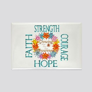 Faith Strength Courage CRPS RSD Awareness Magnets