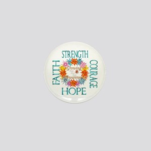 Faith Strength Courage CRPS RSD Awaren Mini Button