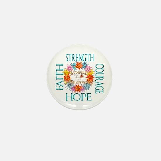 Faith Strength Courage CRPS RSD Awaren Mini Button