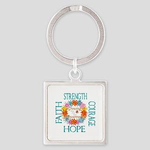 Faith Strength Courage CRPS RSD Awarenes Keychains
