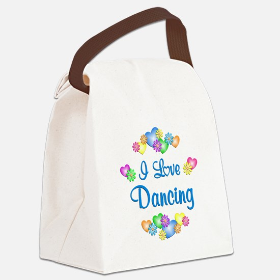 I Love Dancing Canvas Lunch Bag
