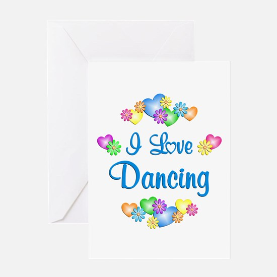 I Love Dancing Greeting Card