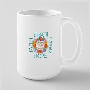 Faith Strength Courage CRPS RSD Awareness Wre Mugs
