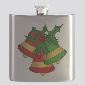 Christmas Bells and Holly Flask