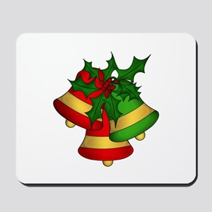 Christmas Bells and Holly Mousepad