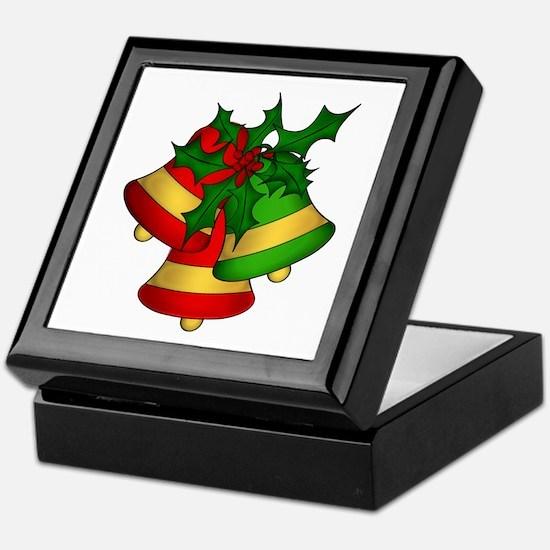 Christmas Bells and Holly Keepsake Box