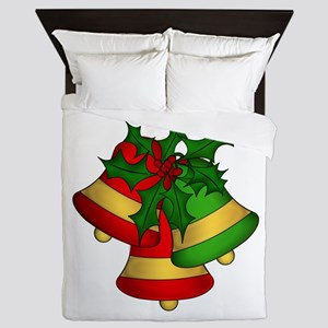 Christmas Bells and Holly Queen Duvet