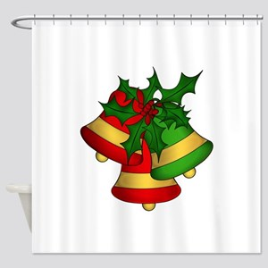 Christmas Bells and Holly Shower Curtain