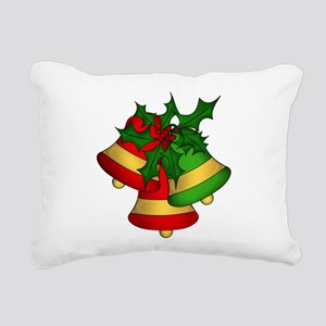 Christmas Bells and Holl Rectangular Canvas Pillow