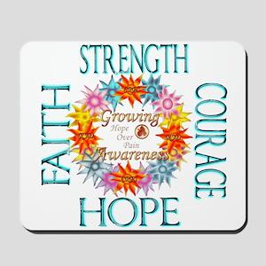 Faith Strength Courage CRPS RSD Awarenes Mousepad