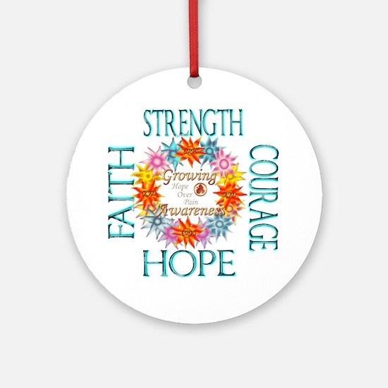 Faith Strength Courage CRPS RSD A Ornament (Round)