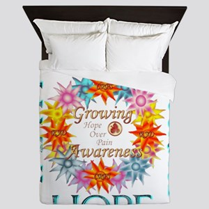 Faith Strength Courage CRPS RSD Awaren Queen Duvet
