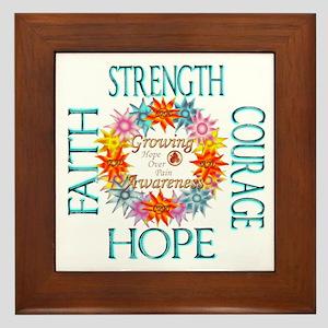 Faith Strength Courage CRPS RSD Awaren Framed Tile
