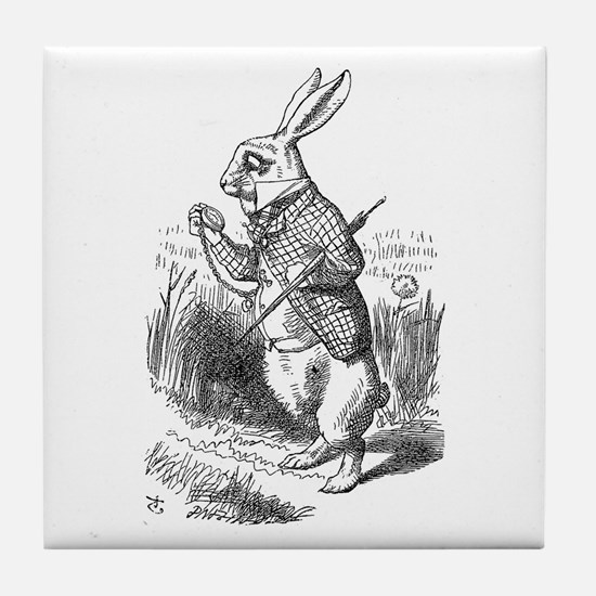 White Rabbit Tile Coaster