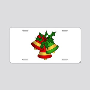 Christmas Bells and Holly Aluminum License Plate