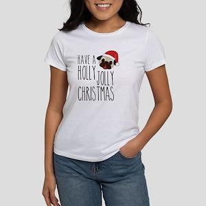 Christmas Santa Pug - Holly Jolly Women's T-Shirt
