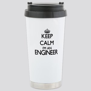 Keep calm I'm an Engine Stainless Steel Travel Mug