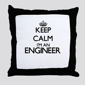 Keep calm I'm an Engineer Throw Pillow