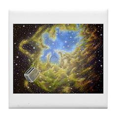 Toaster Passes Nebula Tile Coaster