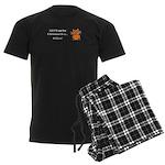 Christmas Kitten Men's Dark Pajamas