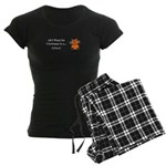 Christmas Kitten Women's Dark Pajamas