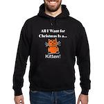 Christmas Kitten Hoodie (dark)