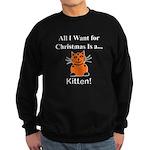 Christmas Kitten Sweatshirt (dark)
