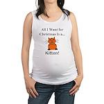 Christmas Kitten Maternity Tank Top