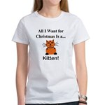 Christmas Kitten Women's T-Shirt