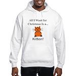 Christmas Kitten Hooded Sweatshirt
