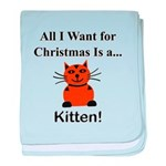 Christmas Kitten baby blanket