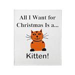 Christmas Kitten Throw Blanket