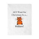 Christmas Kitten Twin Duvet