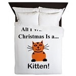 Christmas Kitten Queen Duvet