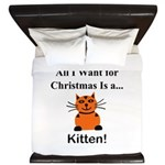 Christmas Kitten King Duvet