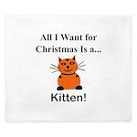 Christmas Kitten King Duvet