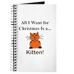 Christmas Kitten Journal