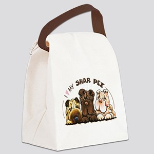 Chinese Shar Pei Lover Canvas Lunch Bag