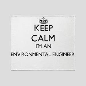 Keep calm I'm an Environmental Engin Throw Blanket