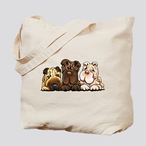 3 Chinese Shar Pei Tote Bag