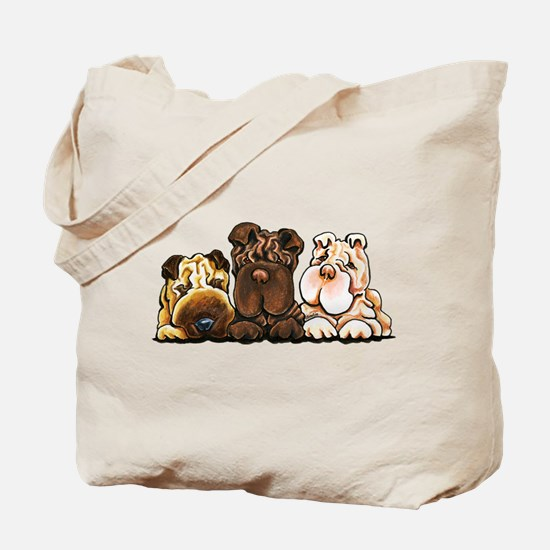 3 Chinese Shar Pei Tote Bag