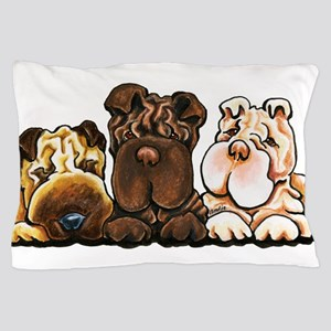 3 Chinese Shar Pei Pillow Case
