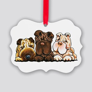 3 Chinese Shar Pei Ornament