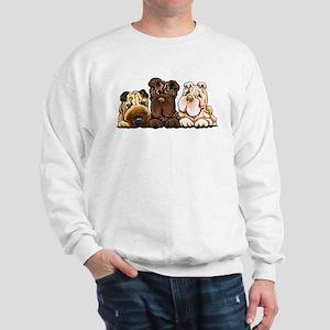 3 Chinese Shar Pei Sweatshirt