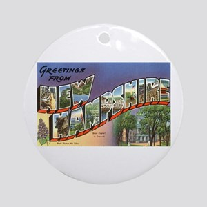 Greetings from New Hampshire Ornament (Round)